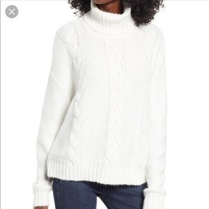 BP White Cozy Turtleneck Sweater